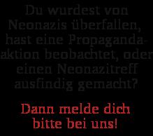 Naziaktivitäten melden!
